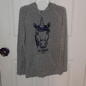 Girls Justice Hooded sweatshirt with unicorn